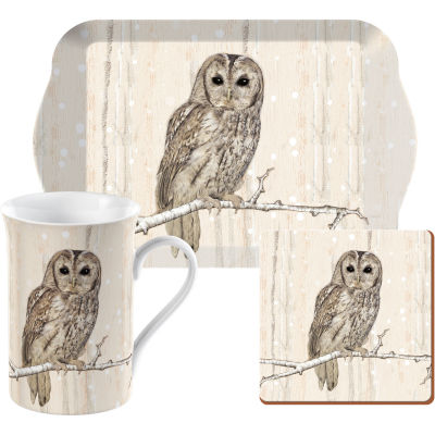 Creative Tops Into The Wild Time For Tea Set Tawny Owl Snow Scenes