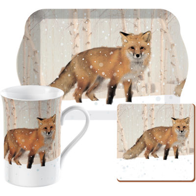 Creative Tops Into The Wild Time For Tea Set Winter Fox Snow Scenes