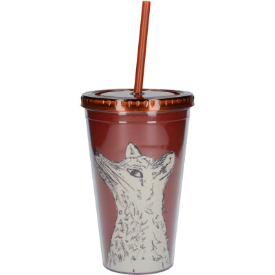 Creative Tops Into The Wild Tumbler & Straw Fox