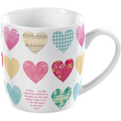 Creative Tops Mug Collection Mug Barrel Patchwork Hearts