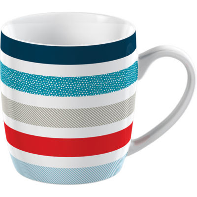 Creative Tops Mug Collection Mug Barrel Stripe Blue