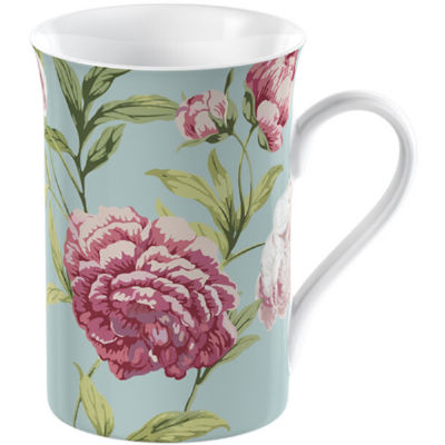 Creative Tops Mug Collection Mug Flared Duck Egg Floral