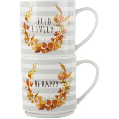 Creative Tops Mug Collection Mug Set of 2 Lovely & Happy