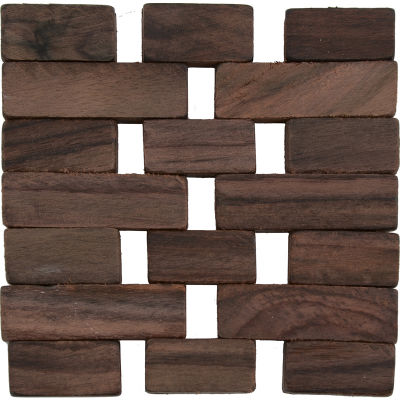 Creative Tops Naturals Dark Slatted Wood Coaster Set of 4