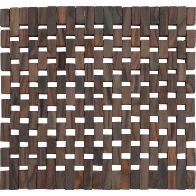 Creative Tops Naturals Dark Slatted Wood Square Placemat Set of 2