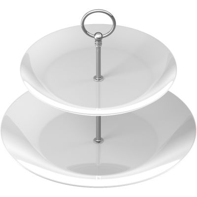 Creative Tops Naturals Porcelain Two-Tier Cake Stand