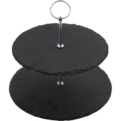 Creative Tops Naturals Slate Two-Tier Cake Stand
