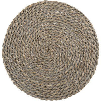 Creative Tops Naturals Water Hyacinth Grey Round Mat 38cm