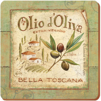 Creative Tops Olio d'Oliva Coaster Premium Set of 6