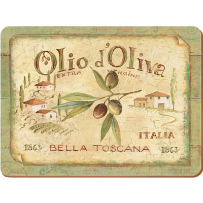Creative Tops Olio d'Oliva Placemat Premium Large Set of 4