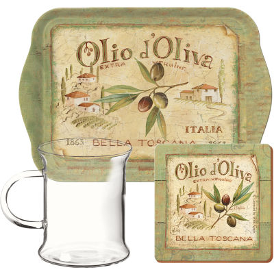 Creative Tops Olio d'Oliva Time For Tea Glass Set