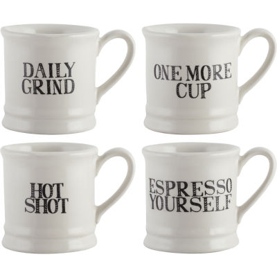 Creative Tops Stir It Up Espresso Mug Set of 4