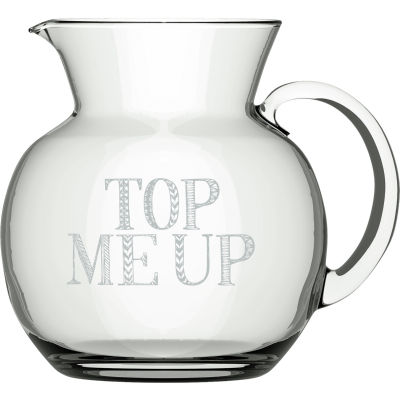 Creative Tops Stir It Up Glass Jug Top Me Up