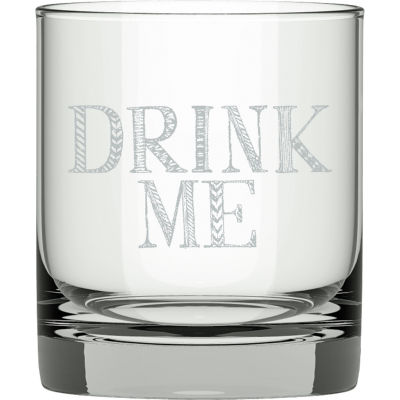 Creative Tops Stir It Up Glass Tumbler Drink Me