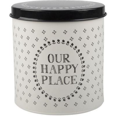 Creative Tops Stir It Up Storage Tin Round Happy Place