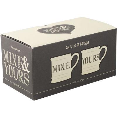 Creative Tops Stir It Up Tankard Mug Set of 2 Mine & Yours