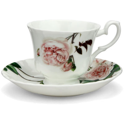 David Austin Roses  English Rose Teacup & Saucer English Rose