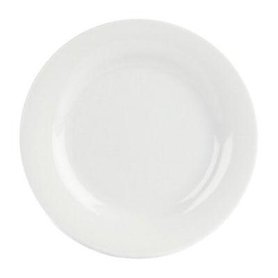 DPS Tableware Porcelite Banquet Vitrified Porcelain Wide Rim Plate 17cm