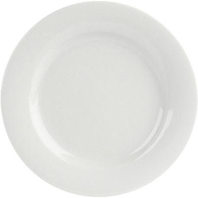 DPS Tableware Porcelite Banquet Vitrified Porcelain Retail Wide Rim Plate 20cm