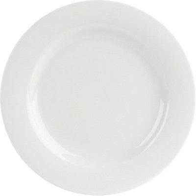 DPS Tableware Porcelite Banquet Vitrified Porcelain Wide Rim Plate 23cm