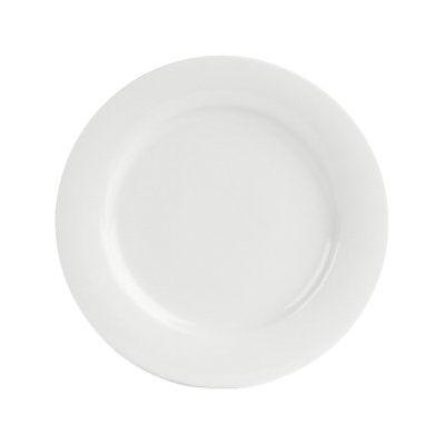 DPS Tableware Porcelite Banquet Vitrified Porcelain Wide Rim Plate 26cm