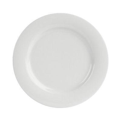 DPS Tableware Porcelite Banquet Vitrified Porcelain Retail Wide Rim Plate 28cm