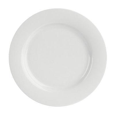 DPS Tableware Porcelite Banquet Vitrified Porcelain Wide Rim Plate 31cm