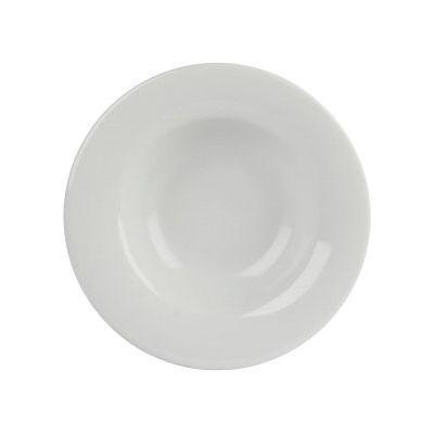DPS Tableware Porcelite Banquet Vitrified Porcelain Retail Winged Pasta Plate 25cm