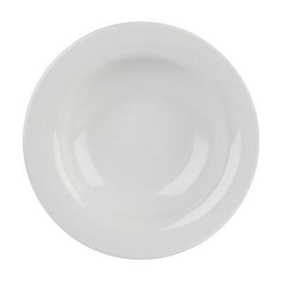 DPS Tableware Porcelite Banquet Vitrified Porcelain Retail Winged Pasta Plate 30cm