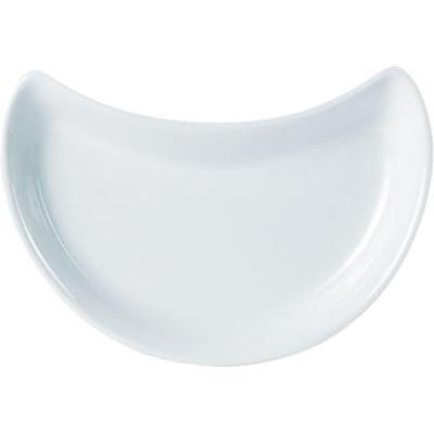 DPS Tableware Porcelite Standard Vitrified Porcelain Crescent Salad Dish 20cm