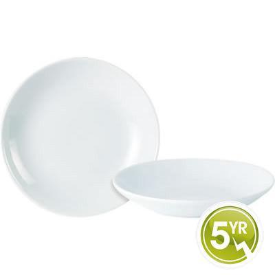 DPS Tableware Porcelite Standard Vitrified Porcelain Deep Coupe Cous Cous Plate 21cm