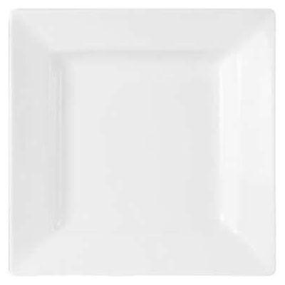 DPS Tableware Porcelite Standard Vitrified Porcelain Deep Square Plate 27cm