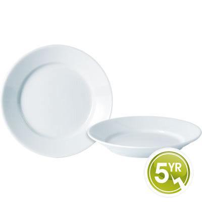 DPS Tableware Porcelite Standard Vitrified Porcelain Deep Winged Plate 30cm