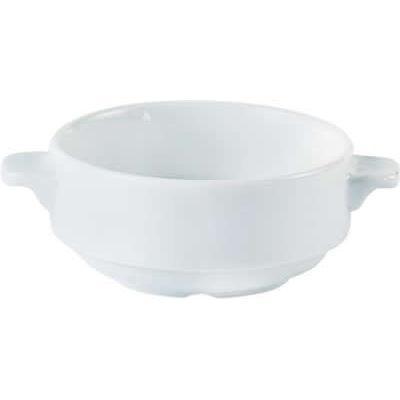 DPS Tableware Porcelite Standard Vitrified Porcelain Lugged Soup Cup 0.28L