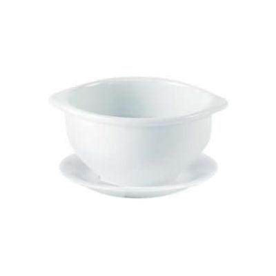 DPS Tableware Porcelite Standard Vitrified Porcelain Lugged Soup Cup 0.4L