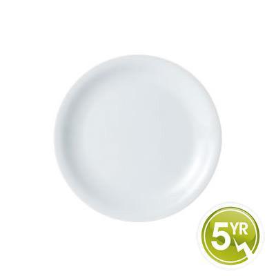 DPS Tableware Porcelite Standard Vitrified Porcelain Narrow Rimmed Plate 24cm