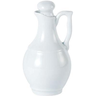 DPS Tableware Porcelite Standard Vitrified Porcelain Oil/Vinegar Jar 16cm