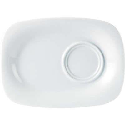 DPS Tableware Porcelite Standard Vitrified Porcelain Rectangular Gourmet Plate 24x18cm