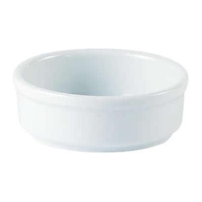 DPS Tableware Porcelite Standard Vitrified Porcelain Round Dish 8cm