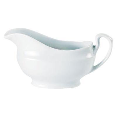 DPS Tableware Porcelite Standard Vitrified Porcelain Sauce Boat 0.4L