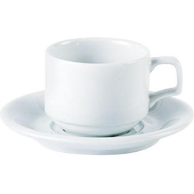 DPS Tableware Porcelite Standard Vitrified Porcelain Stacking Cup 0.2L