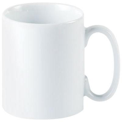 DPS Tableware Porcelite Standard Vitrified Porcelain Straight Sided Mug 0.34L