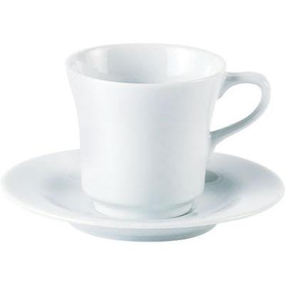 DPS Tableware Porcelite Standard Vitrified Porcelain Tall Saucer 15cm