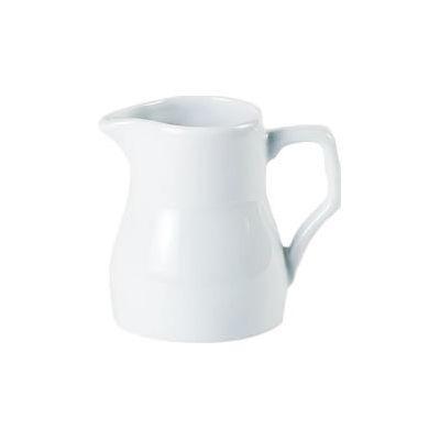 DPS Tableware Porcelite Standard Vitrified Porcelain Traditional Milk Jug 0.32L