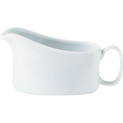 DPS Tableware Porcelite Standard Vitrified Porcelain Traditional Sauce Boat 0.2L
