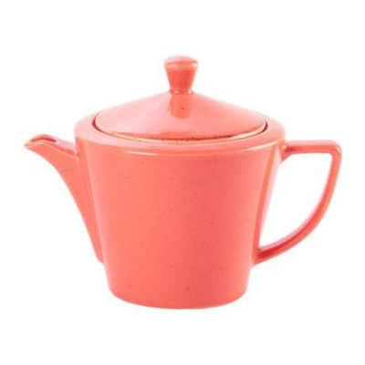 DPS Tableware Seasons Conic Tea Pot 0.5L Coral Orange