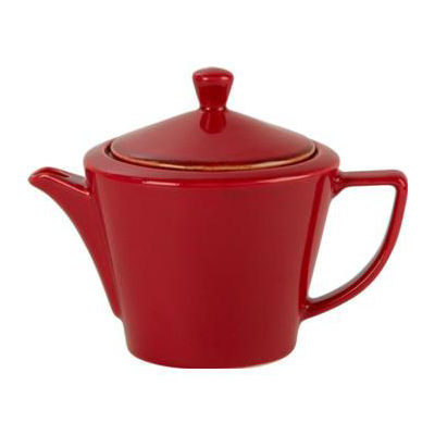 DPS Tableware Seasons Conic Tea Pot 0.5L Magma Red
