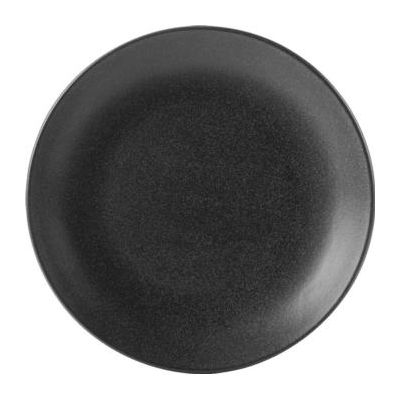 DPS Tableware Seasons Coupe Plate 18cm Graphite Black