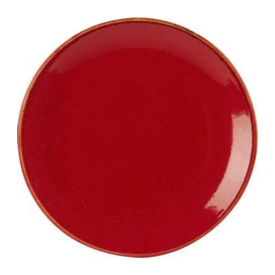 DPS Tableware Seasons Coupe Plate 24cm Magma Red