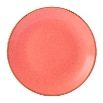 DPS Tableware Seasons Coupe Plate 28cm Coral Orange